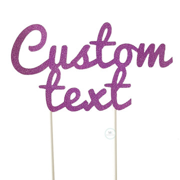 Customized Cake Topper- Glitter Purple image