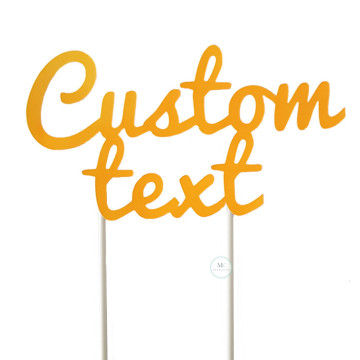 Customized Cake Topper- Neon Orange image