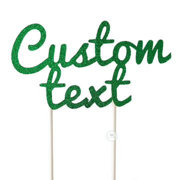 Customized Cake Topper- Glitter Emerald image