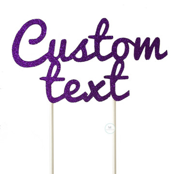 Customized Cake Topper- Glitter Violet image