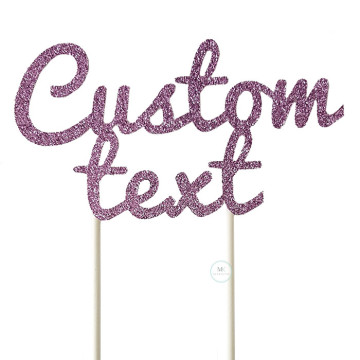 Customized Cake Topper- Glitter Lilac image
