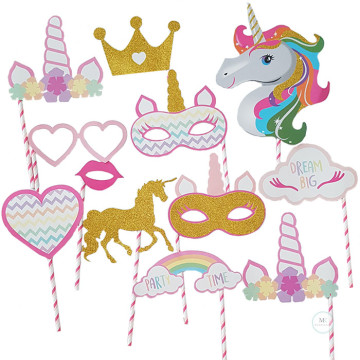Unicorn dream big 12PCS Set Photobooth Prop image