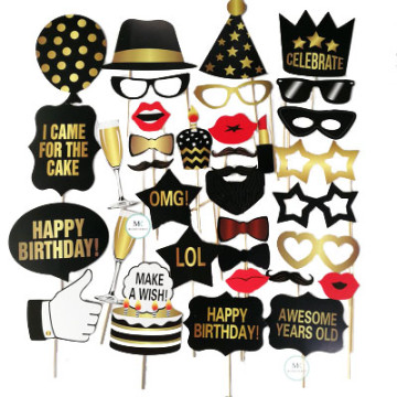 Happy Birthday 34PCS Set Photobooth Prop image