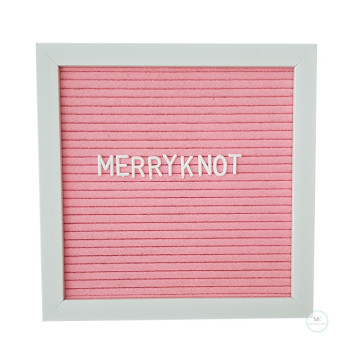 10 inch x 10 inch Felt Letter Board [Pink] image
