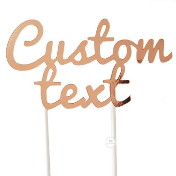 Customized Cake Topper- Mirror Rose Gold image