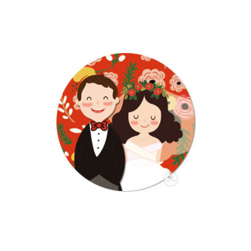 Design F Wedding Sticker image