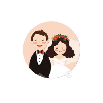 Design E Wedding Sticker image