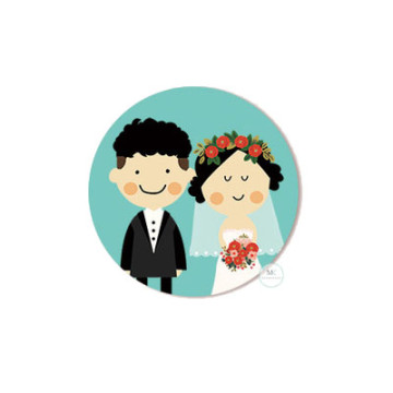 Design D Wedding Sticker image