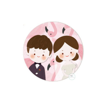 Design B Wedding Sticker image