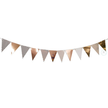 Rose Gold Chevron Party Flag Banner image