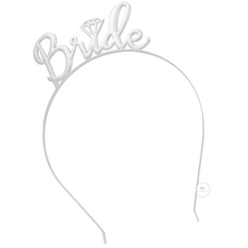Bride to be Hairband Silver image