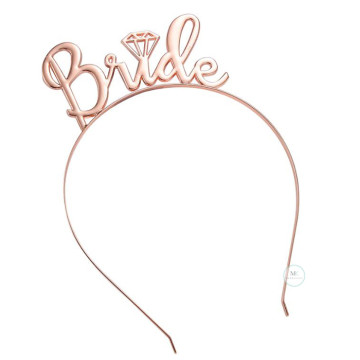 Bride to be Hairband Rose Gold image