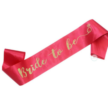 Bride to be Sash - Fuchsia Pink Ring image