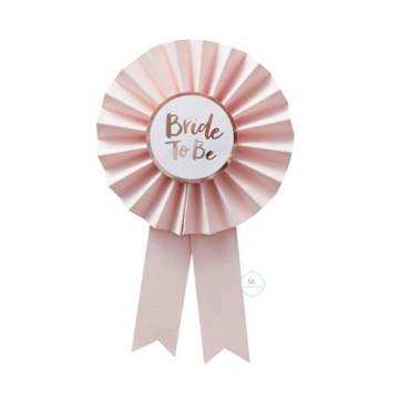 Bride to Be Badge rosette Pink image