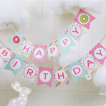 Happy Birthday Donut Banner image