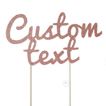 Customized Cake Topper- Glitter Pink image