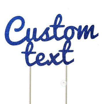Customized Cake Topper- Glitter Blue image