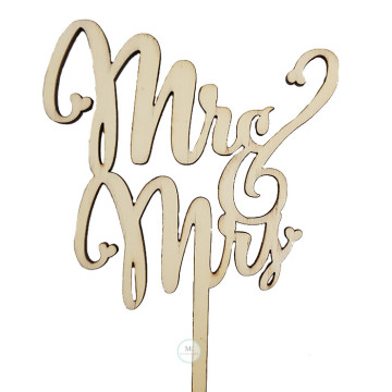 Mr and Mrs Script Cake topper image