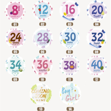 Milestone Pregnancy Belly Sticker image