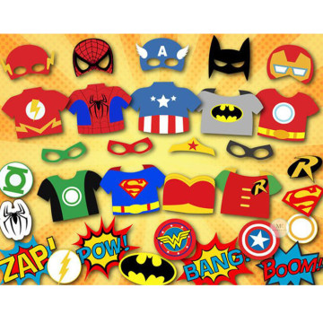 Superheroes 31PCS Set Photobooth Prop image