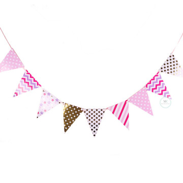 Fuchsia Pink Party Flag Banner image