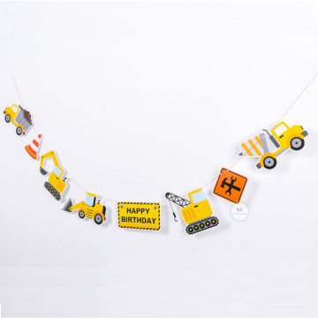 Construction trucks garland image