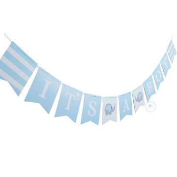 It's A Boy Banner Elephant image