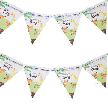 Welcome Baby Flag garland image