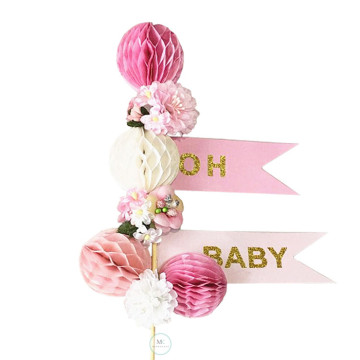 Oh Baby Pink Cake topper image