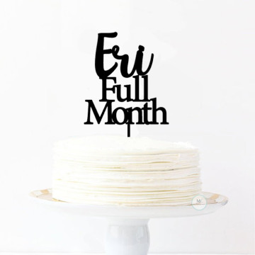 Customise full month Cake topper image