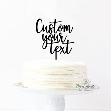Customise Your Text - Cake topper image