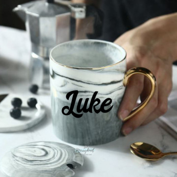 Customise Grey Marble Mug image
