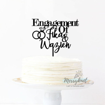 Customise Engagement Cake topper image