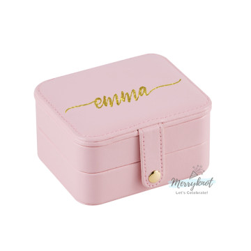 Customise travel Jewellery Box [Pink] image