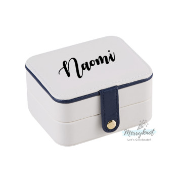 Customise travel Jewellery Box [White] image