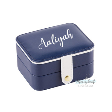 Customise travel Jewellery Box [Navy Blue] image