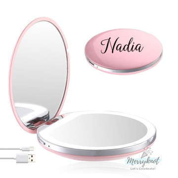 Customised LED Compact Mirror [PINK] image