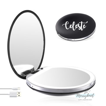 Customised LED Compact Mirror [BLACK] image