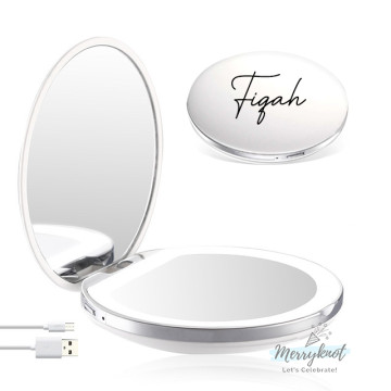Customised LED Compact Mirror [WHITE] image