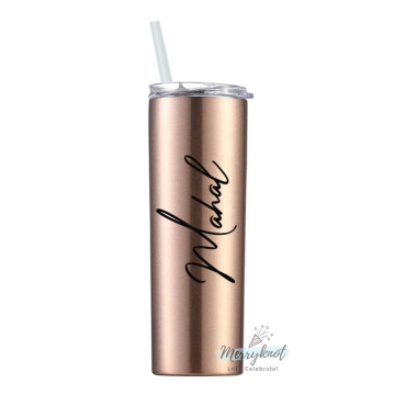 Skinny Double wall Stainless Steel Tumbler [Champagne] image
