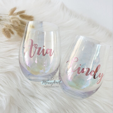 Iridescent Egg Glass Cup image