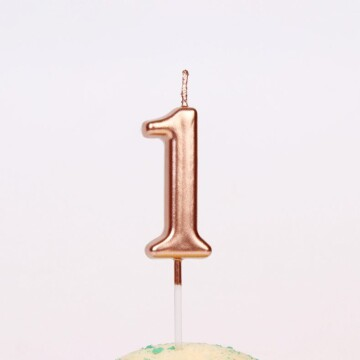 Rose Gold Number Candle image