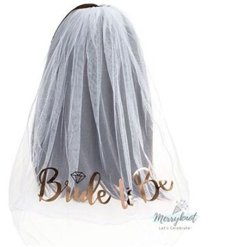 Bride to be Hair Veil Rose Gold image