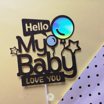 My Baby Blue Cake topper image