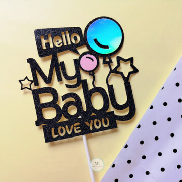 My Baby Pink Cake topper image