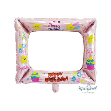 Happy Birthday Balloon Photo Frame [Pink] image