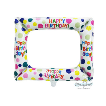 Happy Birthday Balloon Photo Frame [White] image