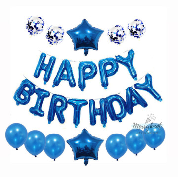 Happy Birthday Balloon set [BLUE] image