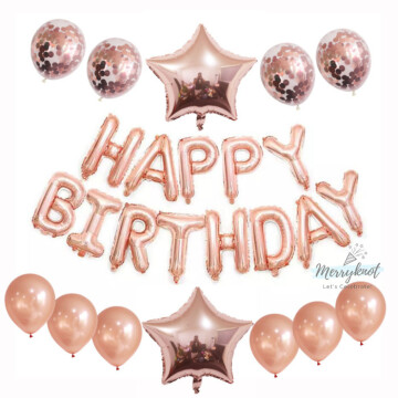Happy Birthday Balloon set [Rose Gold] image