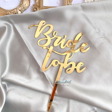 Bride to be cake topper [GOLD] image